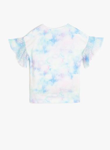 Koton Kids Pul Detaylı T-Shirt Beyaz